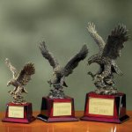 Eagle on Piano Finish Base Eagle Awards