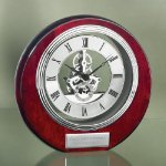Circle Clock with Exposed Gears in Chrome Employee Awards