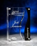 Wave Cutout Clear and Black Acrylic Award Sales Awards
